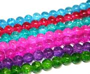 6mm crackled glass beads